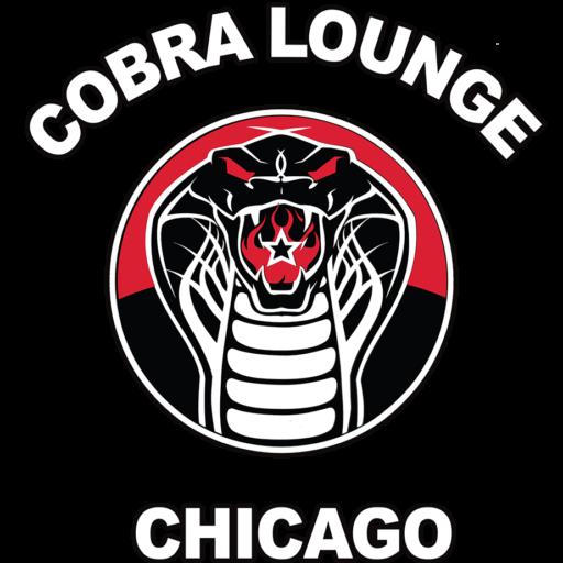 Cobra Lounge logo is a snake